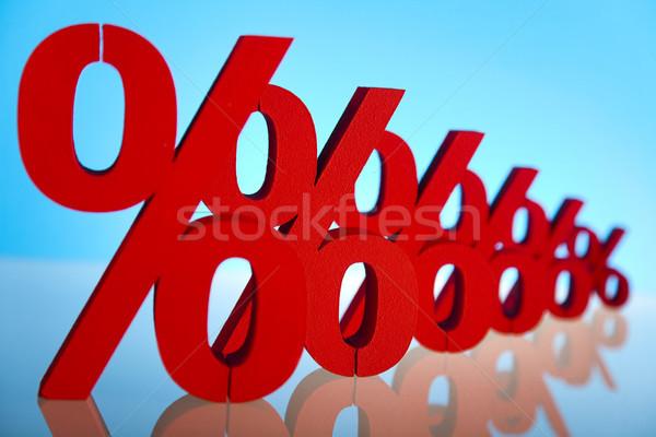 Procent podpisania działalności czerwony banku sukces Zdjęcia stock © JanPietruszka