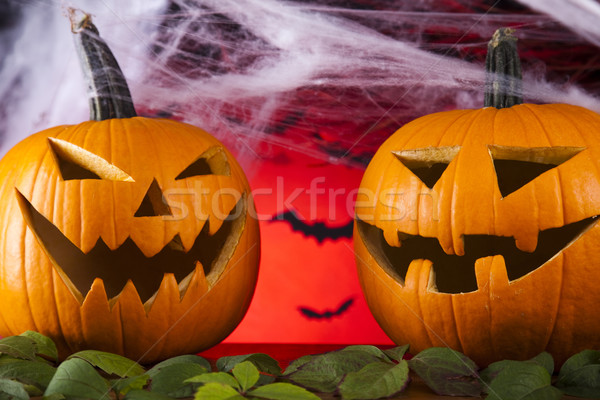 Halloween web ojos fondo naranja espacio Foto stock © JanPietruszka