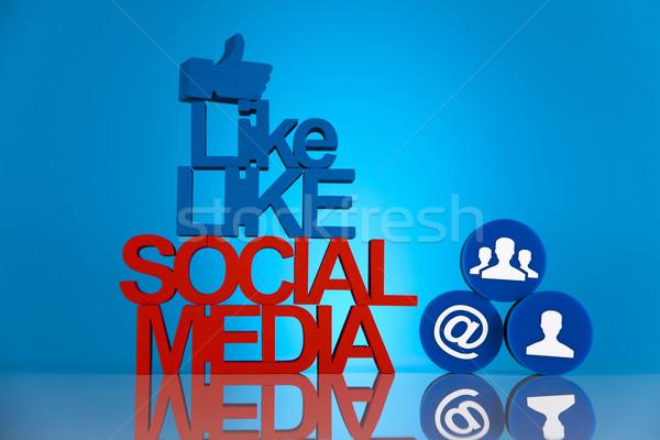 ソーシャルメディア ビジネス 作業 技術 電話 にログイン ストックフォト © JanPietruszka