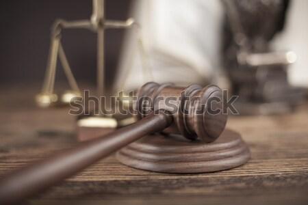 Gavel, Mallet of justice concept Stock photo © JanPietruszka
