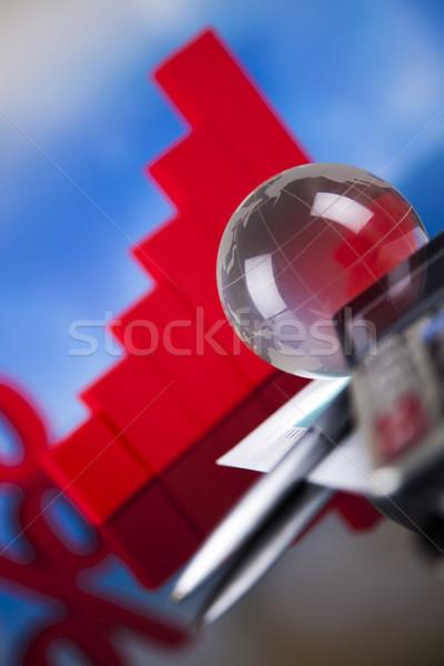 Percentuale naturale colorato segno rosso finanziare Foto d'archivio © JanPietruszka