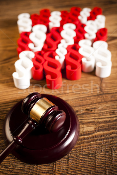 Judge wooden gavel and paragraph Stock photo © JanPietruszka