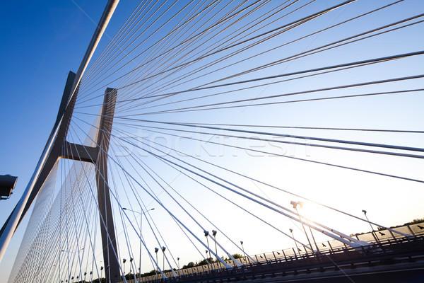 Huge bridge, saturated landmark view Stock photo © JanPietruszka