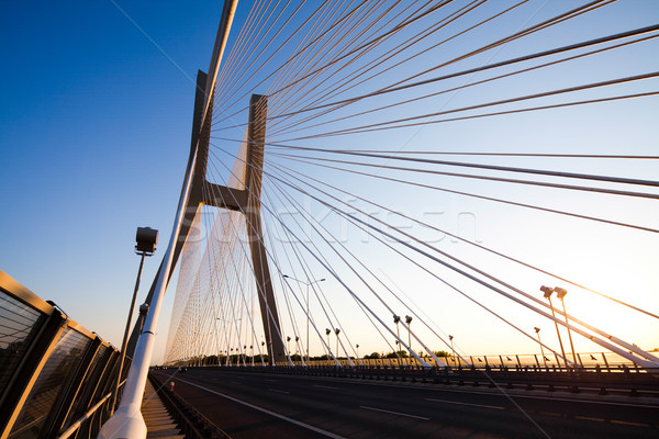 Hatalmas híd tájékozódási pont kilátás égbolt épület Stock fotó © JanPietruszka