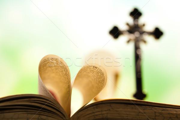 Christian communion lumineuses jesus pain Photo stock © JanPietruszka