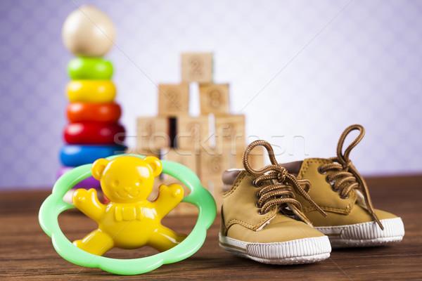 Colorful alphabet blocks, baby toy Stock photo © JanPietruszka