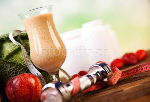 Fitness diet, vitamins, healthy and fresh Stock photo © JanPietruszka
