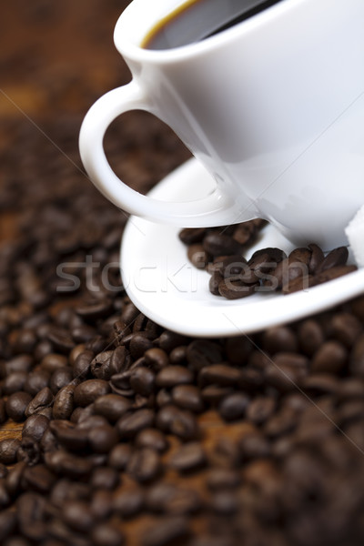 Cup fagioli caffè bianco texture alimentare Foto d'archivio © JanPietruszka