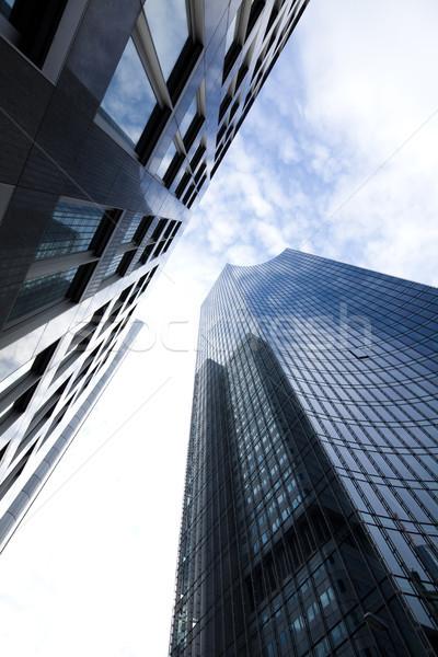 Modern business building, natural colorful tone Stock photo © JanPietruszka