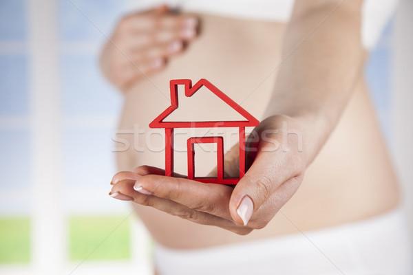 Pregnant new home Stock photo © JanPietruszka