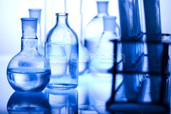 Chemical laboratory glassware equipment  Stock photo © JanPietruszka