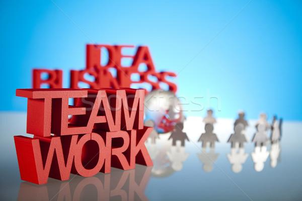 Teamarbeit Business Büro Bildung Gruppe Job Stock foto © JanPietruszka