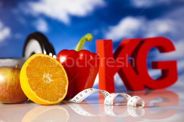 Vitaminas comida fitness fruto saúde Foto stock © JanPietruszka