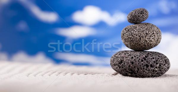 Still life pierre zen groupe Rock détendre Photo stock © JanPietruszka
