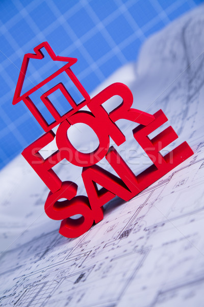 For sale House and achitectural drawings  Stock photo © JanPietruszka
