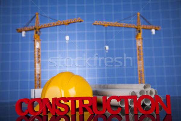 Vinç planları binalar inşaat iş Stok fotoğraf © JanPietruszka