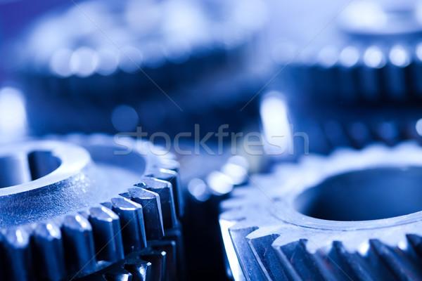 Gears meshing together, technic concept Stock photo © JanPietruszka