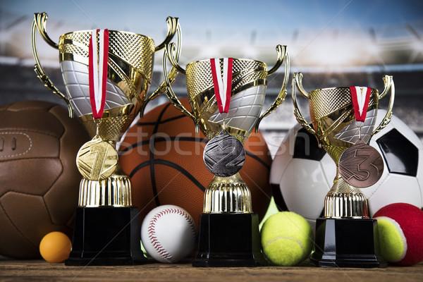 トロフィー 受賞 スポーツ ボール 選手権 ストックフォト © JanPietruszka