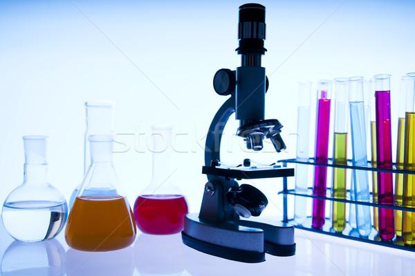 Laboratórium üveg hely tudományos kutatás környezeti kutatás Stock fotó © JanPietruszka