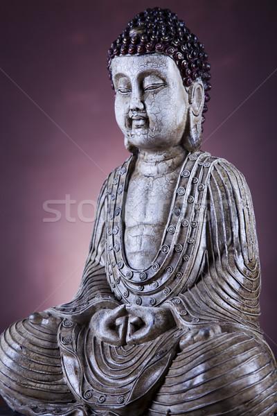 Portrait of a buddha statue Stock photo © JanPietruszka