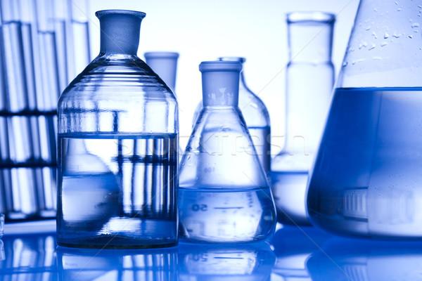 Laboratórium felszerlés technológia egészség kék tudomány Stock fotó © JanPietruszka