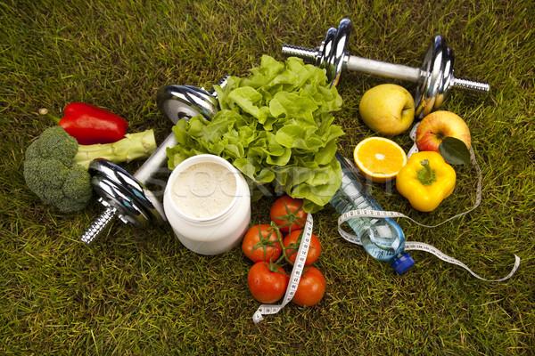 Stok fotoğraf: Uygunluk · vitaminler · sağlık · egzersiz · enerji · yağ