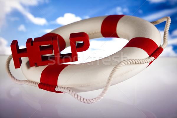 Pomoc kryzys ceny arrow wsparcia ubezpieczenia Zdjęcia stock © JanPietruszka