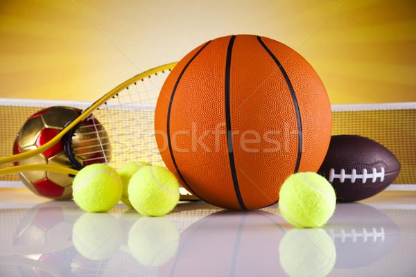 Sprzęt sportowy słońca golf piłka nożna sportu tenis Zdjęcia stock © JanPietruszka