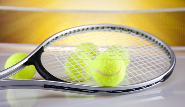 Teniszütő labda háttér játék játék vonal Stock fotó © JanPietruszka