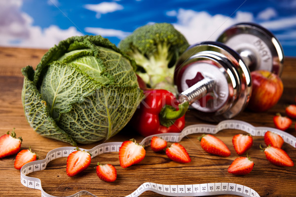 фитнес здорового свежие фрукты здоровья Сток-фото © JanPietruszka
