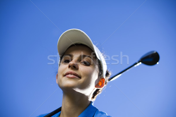 Golf, bright colorful vivid theme Stock photo © JanPietruszka