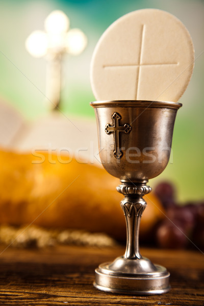 聖なる 聖餐 明るい 図書 イエス 教会 ストックフォト © JanPietruszka