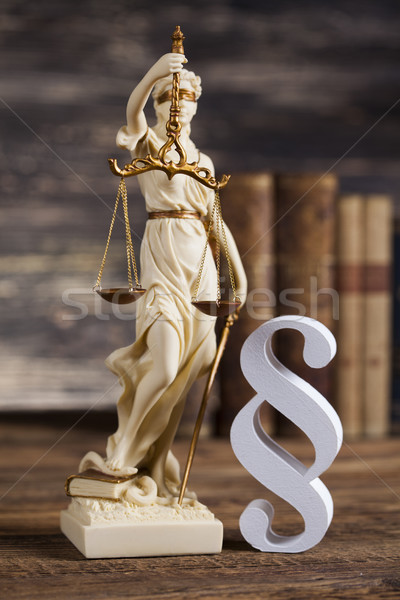 Statue of lady justice, Law concept and paragraph Stock photo © JanPietruszka