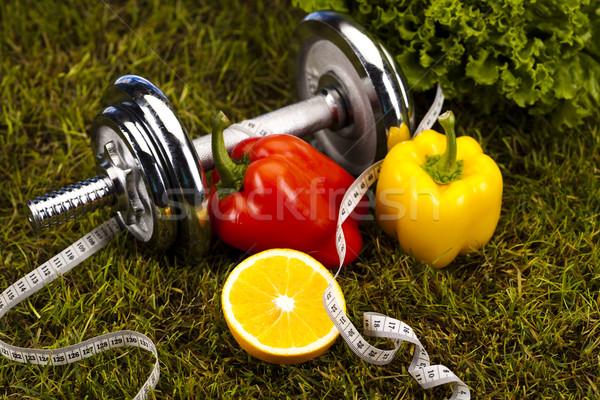 Zdjęcia stock: Warzyw · fitness · zielona · trawa · zdrowia · wykonywania · energii