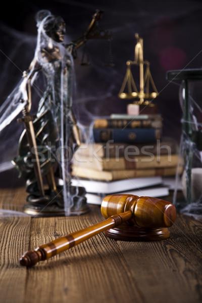 Legno martelletto avvocato giudice giudice oggetto Foto d'archivio © JanPietruszka