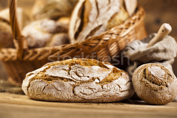 Baked traditional bread, natural colorful tone Stock photo © JanPietruszka