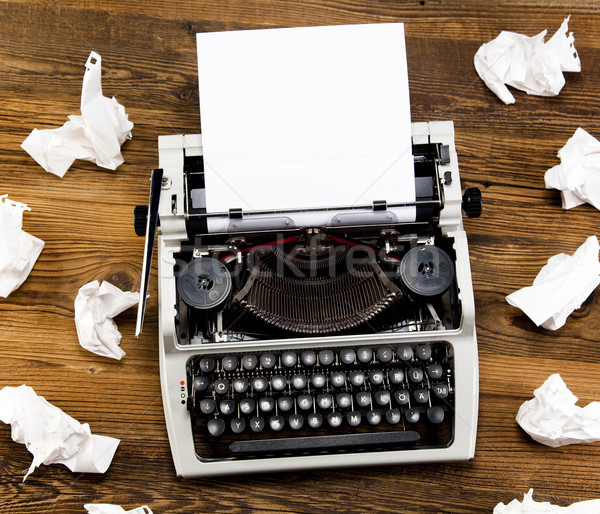 Retro typewriter with white paper Stock photo © JanPietruszka