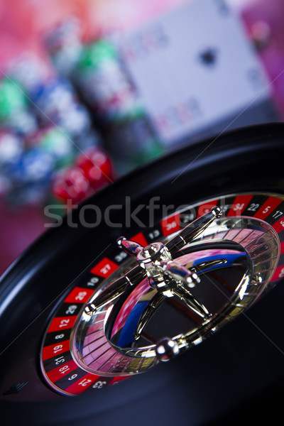 Roulette casino poker chips giocare chip divertimento Foto d'archivio © JanPietruszka