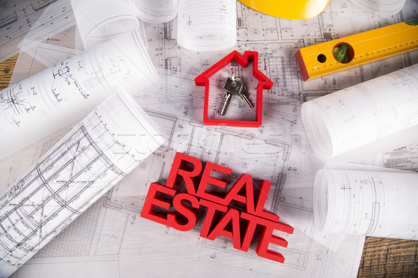Real estate with house model Stock photo © JanPietruszka