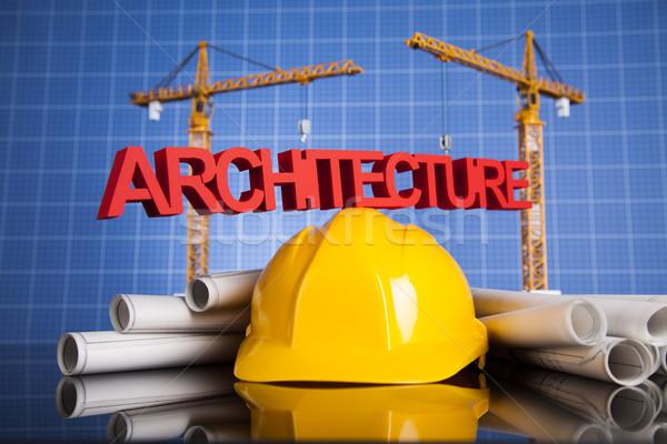 Gru progetti edifici costruzione business Foto d'archivio © JanPietruszka