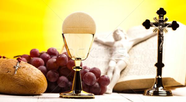 クリスチャン 聖なる 聖餐 明るい イエス パン ストックフォト © JanPietruszka