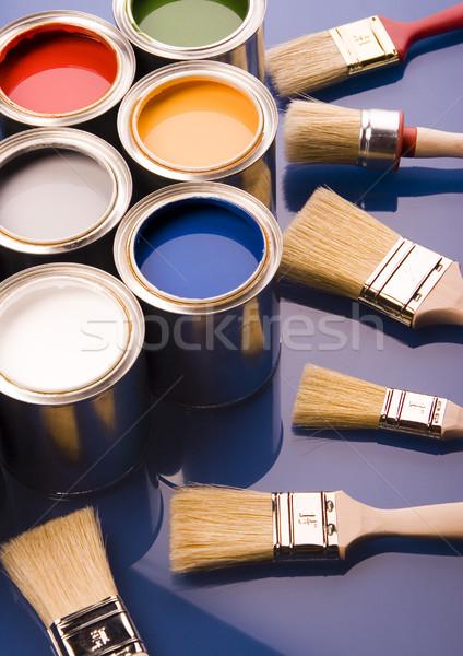 Boya fırçalamak parlak renkli soyut dizayn Stok fotoğraf © JanPietruszka