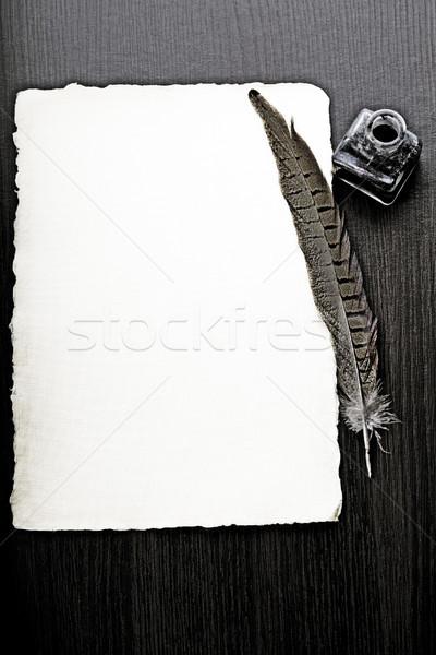 Vecchia carta spazio testo vintage carta sfondo Foto d'archivio © JanPietruszka