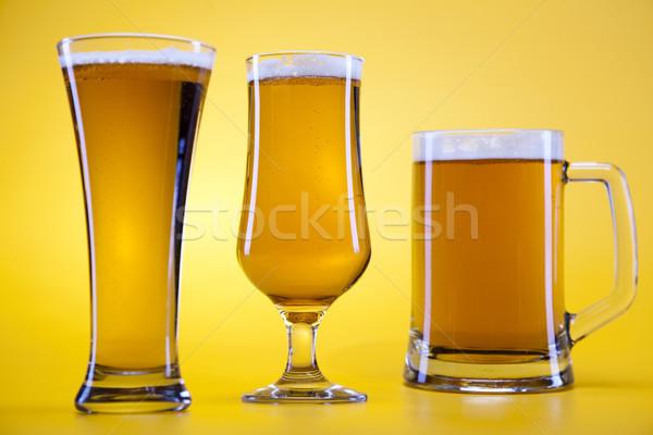 Cerveza vidrio brillante vibrante alcohol fiesta Foto stock © JanPietruszka