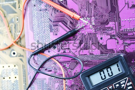 Electronic background texture, modern vivid concept Stock photo © JanPietruszka