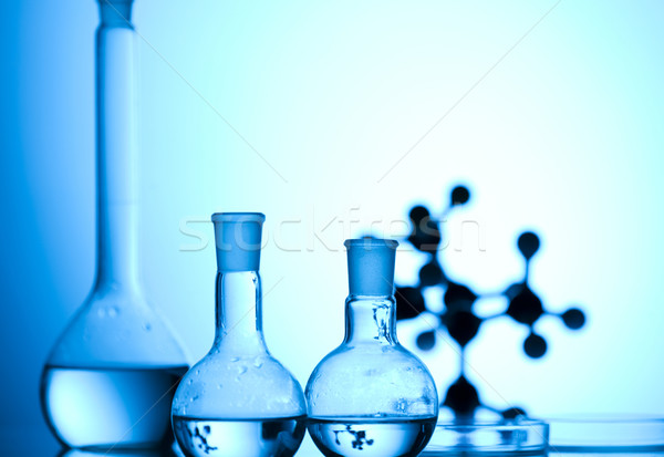 Laboratório artigos de vidro lugar pesquisa científica ambiental pesquisa Foto stock © JanPietruszka