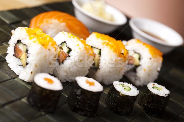 Tradizionale cibo giapponese sushi pesce mare ristorante Foto d'archivio © JanPietruszka
