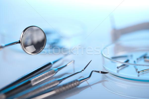 Photo stock: Dentaires · médecine · miroir · outil · professionnels