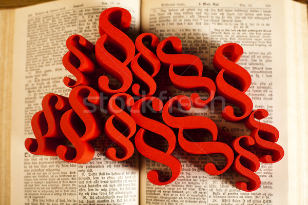 Stock photo: Law book with paragraphs, natural colorful tone
