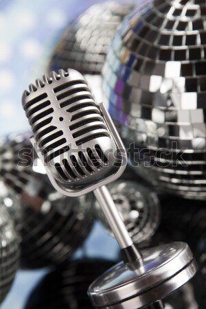 Music microphone, music saturated concept Stock photo © JanPietruszka